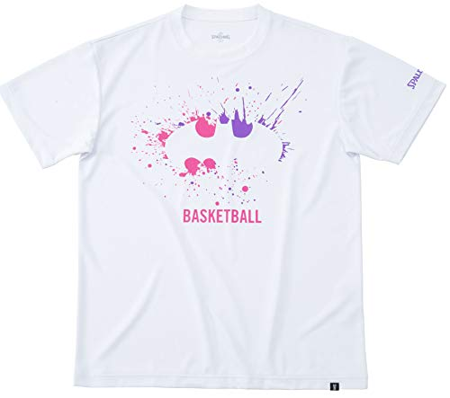 SPALDING(スポルディング) バスケットボール ウェア Tシャツ バットマン スプレー ホワイト XLサイズ SMT191330 バスケ バスケット SMT191330 XL