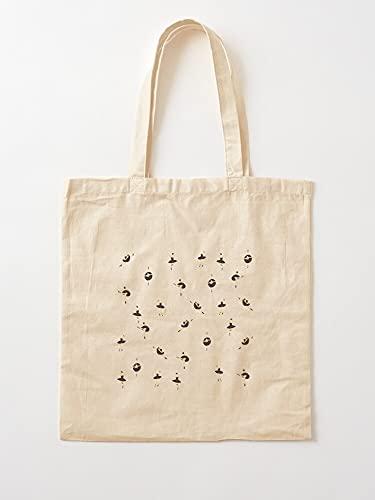 Générique Textur-Einkaufstaschen aus Leinen, Motiv: Prinzessinnen-Dancers Girly Patterns Girls – Einkaufstaschen aus robuster Baumwolle