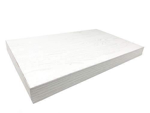 Vetrineinrete Mensola da Parete Rovere Sbiancato con reggimensola a Scomparsa scaffale in Legno MDF Fissaggio a Muro Varie Dimensioni (40x25 Cm) D36