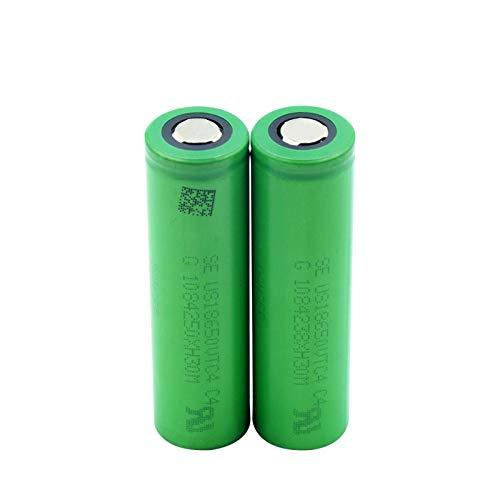 CNMMGL BateríAs De Litio Planas Verdes del Ion De Li De 3.6v 2100mah 18650 Voltios, Us18650vtc4 Vtc4 18650 Batetry 2pcs