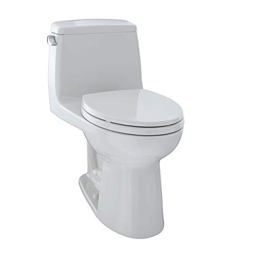 TOTO MS854114S#11 Ultramax Elongated One Piece Toilet, Colonial White