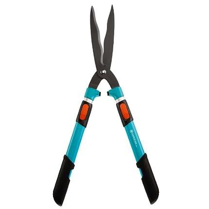 GARDENA Comfort 394-20 - Tijeras para setos 700 T, precisas tijeras de jardín telescópicas para setos y arbustos altos, 70-90cm