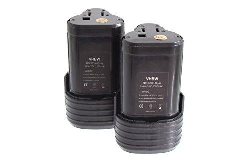 vhbw 2x baterías Li-Ion 1500mAh para herarmientas eléctricas destornillador a batería Worx...