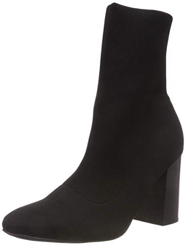 Bianco Damen Knit Boot Stiefeletten, Schwarz (Black 104), 41 EU