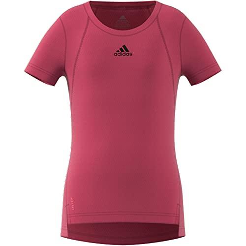 adidas G H.R. tee t-Shirt (Short Sleeve), Wild Pink/Black/Hazy Rose, 7-8A Girls