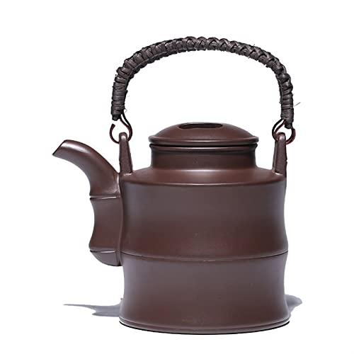 jinrun Hogar Chino Tetera púrpura Arcilla té hervidor de té Crudo Ore Negro Barro BOT para café Servicios de té de té Vajilla de Utensilios de té 700ml