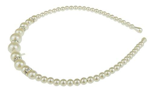 Mesdames filles fausse perle & Diamante étroit bandeau Alice bande