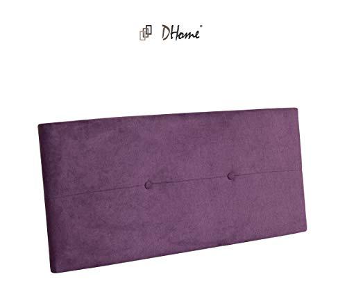 DHOME Cabecero de Polipiel o Tela AQUALINE Pro cabeceros Cabezal tapizado Cama Tela Lila, 110cm (Camas 80/90/105)