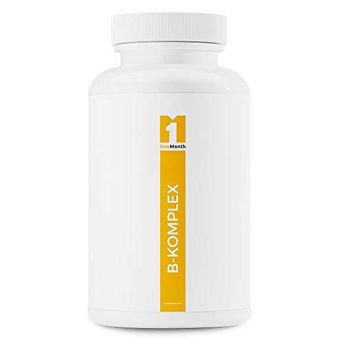 Vitamin B Komplex | 30 vegane Kapseln - hochdosiert | praktische Monatspackung | Pharmaqualität nach ISO und GMP-Standard produziert