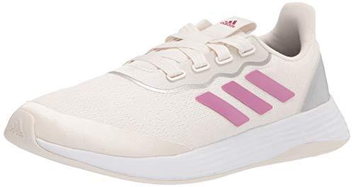 adidas Qt Racer Sport - Zapatillas de Correr para Mujer, Color Blanco (Tiza/Cereza Metalizada/Plata Metalizada), 40 EU