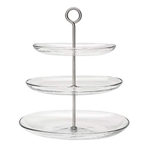 C-J-Xin Présentoir à gâteaux en verre, porte-gâteaux à fruits à la maison Salon avec support pour les fruits séchés Présentoirs à gâteau (Size : 27 * 27 * 34CM)