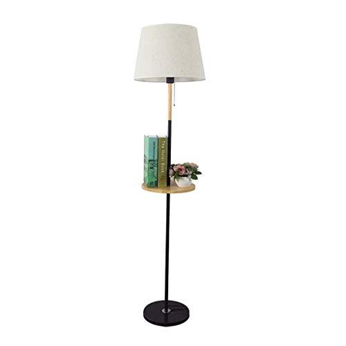 Lampes de chevet Lampadaire Table Basse Plateau Salon Chambre Chambre Chevet Lampadaire Rack Vertical Lampadaire Minimaliste Moderne (Color : Blanc, Size : 30 * 162cm)