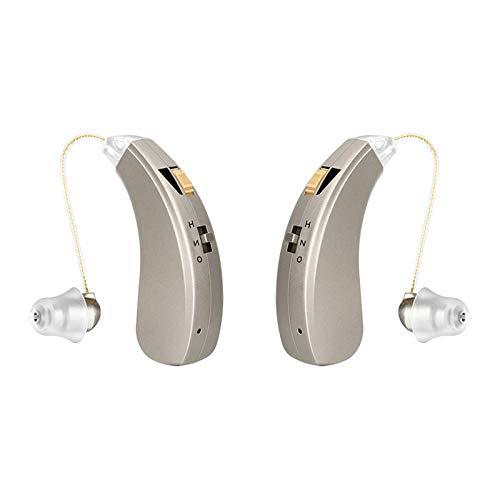 HWZZ Apparecchi Acustici Ricaricabili per Adulti, Anziani E Bambini, Dispositivi Audio Digitali Personali E Apparecchi Acustici, Tutti Gli Accessori Possono Essere Posizionati,Pair