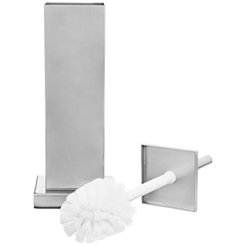 Amazon Basics Bathroom Accessory Collection Classic Square Toilet Brush Holder, Small