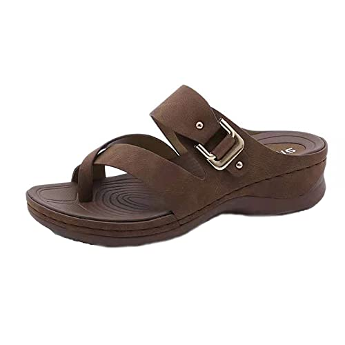 Women New Sandals Fashion Non Slip Comfy Indoor and Outdoor Beach Sandals Slippers,Ladies Summer Dressy Comfy Platform Casual Shoes Summer Beach Travel Slipper Flip Flops