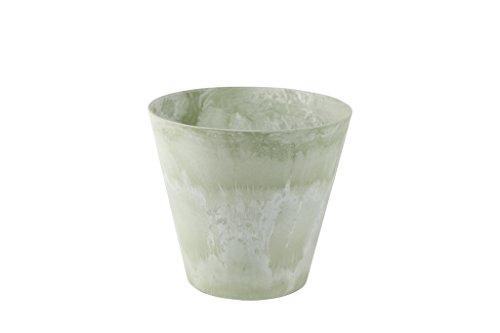 Artstone Pflanzgefäß, Pflanzkübel Claire, frostbeständig und leichtgewichtig, eukalyptus, 32x32x29 cm, 136207