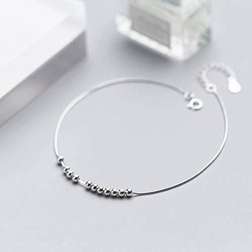 S925 zilveren armband dames Koreaanse mode persoonlijkheid kraal armband licht kraal bal slang been ketting armband sieraden, armband, 925 zilver, EEH A ZILVER