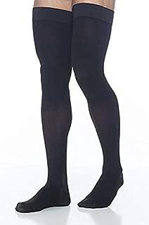 SIGVARIS Men's DYNAVEN Closed Toe Thigh-Highs w/Grip-Top 30-40mmHg
