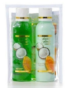 Forever Florals Hawaiian Coco-Papaya (Coconut Papaya) Bath Travel / Gift Set by Forever Florals Hawaii