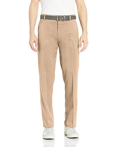 Amazon Essentials Men's Standard Classic-Fit Stretch Golf Pant, Khaki, 40W x 28L