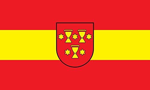 Unbekannt magFlags Tisch-Fahne/Tisch-Flagge: Staufen im Breisgau 15x25cm inkl. Tisch-Ständer