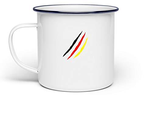 Generisch zwart rood goud Duitsland vlag liefde Oktoberfest München Bayern feesttent outfit - emaille mok -één maat wit