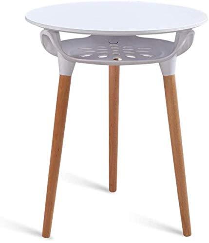 Comodino tavolino Tavolini Tavolo da Comodino Tavolo da Comodino Luoghi applicabili Cassetti (Color : White, Size : 60 * 60 * 75cm)