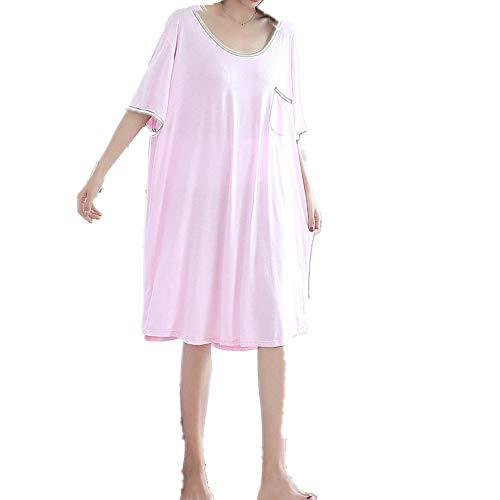 Más el tamaño sexy pijamas mujeres mujeres pijamas vestidos liso pecho abierto espalda suelta manga corta