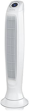 Brandson - Ventilatore a Torre con Telecomando | Tower Fan New 2019 | 60 W | 3 Livelli di velocità (Low/Medium/High) + Timer + 3 modalità Operative + Oscillazione a 60° | Bianco