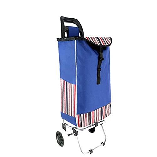 showyow Carrito de compras plegable con ruedas Carrito de la compra portátil plegable hogar comestibles portátil