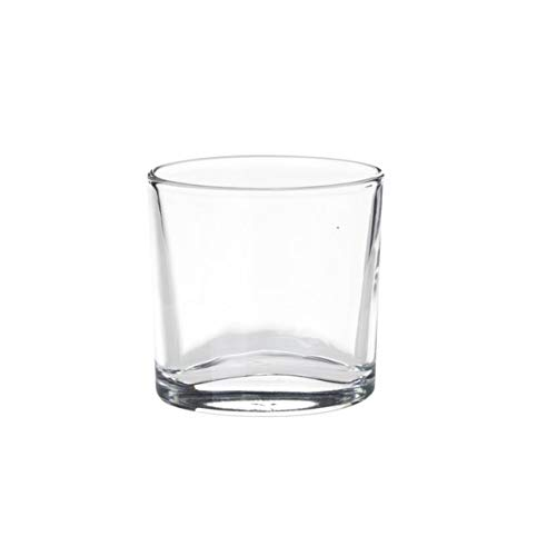 Visiodirect Lot de 6 Gobelets Ellipse en Verre - 9cl