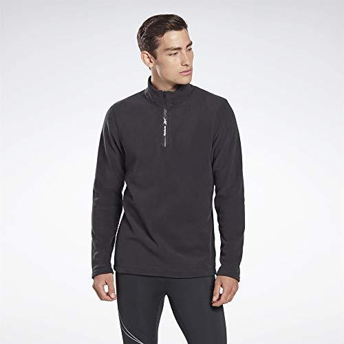 Reebok Męska bluza Ow Flc Q Zip czarny czarny XL