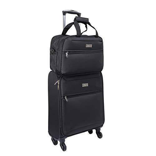 Cabin Max Copenhagen Premium Handgepäck Kabinenkoffer Set - Rollkoffer mit 55 x 40 x 20 mit 40 L, 4 Rollen und Stowaway Bag mit 40 x 25 x 20 cm, 14 L - Perfekt für Ryanair