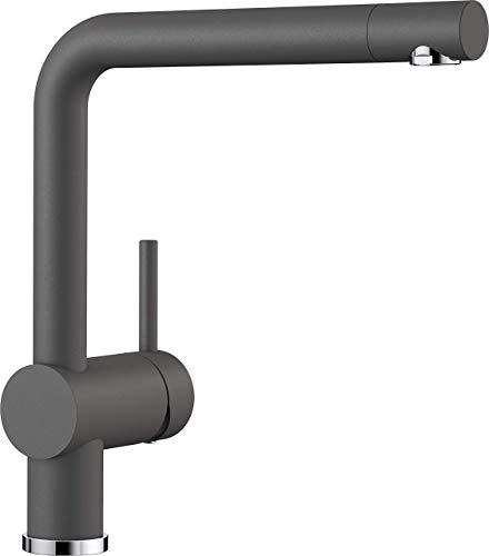 Blanco LINUS Küchenarmatur, Silgranit-Look, felsgrau, Hochdruck, 1 Stück, 518814