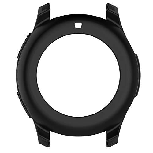 LOKEKE Compatibel Voor Samsung Galaxy Horloge 42mm Siliconen Beschermende Hoesje Cover, Zachte Siliconen Beschermende Shell Hoesje Cover Voor Samsung Galaxy Horloge 42mm Smartwatch, Zwart