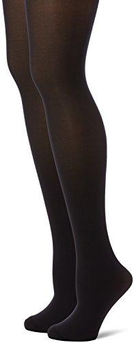 CHAUSSANT Collant style Opaque Velouté Lot de 2, Noir, Taille FR: 3 (Taille fabricant: 3/4)