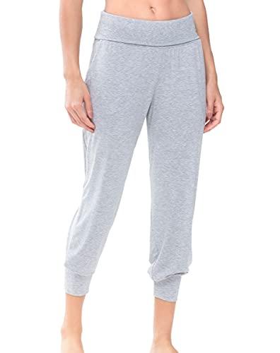 Mey Night Serie Sleepy & Easy Damen Yoga Pants Hellgrau-Melange XL(44)