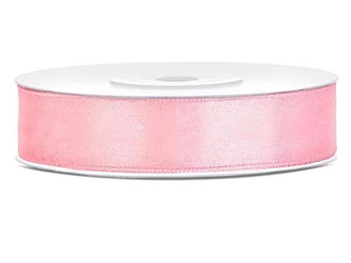 DaLoKu Satinband 6/12/25/38/50/100mm x 25m Geschenkband Schleifenband, Größe: 12mm x 25m, Farbe: Rosa