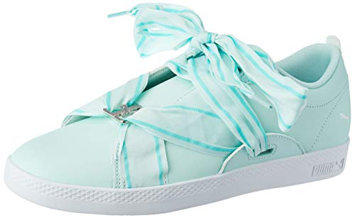 Puma Damen Smash WNS Buckle Sneaker, Blau (Fair Aqua-Puma White-Puma Silver), 41 EU
