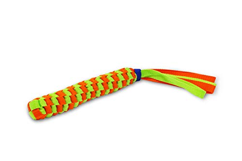 happyhund Dog Tug Toys - Rope & Webbing Material for Toughness & Durability - Great for Tugging, Fetching, Frisbee, Chewing, Training & More - Built for Heavy Chewers (Webbed Bone with Handle)