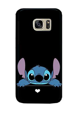 Coque téléphone pour Samsung Galaxy S7 Lilo and Stitch Ohana Cute Sweet Disney 20 Dessins