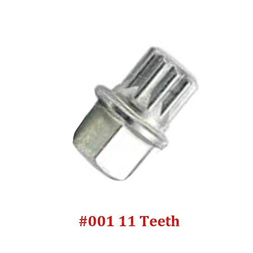 NO LOGO XJB-LMLS, for Volkswagen VW Golf Jetta Passat Touran for Audi A4 A6 A8 TT Anti-Diebstahl-Radschraube Sicherungsmutter Key Adapter # 0 bis # 9 (Größe : 001 11 Teeth)