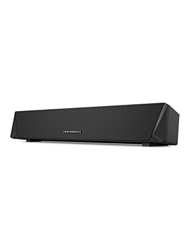 TaoTronics Gaming Computer Speaker, Dual Powerful 7W Drivers PC Soundbar, Colorful RGB Light, Wireless Bluetooth 5.0 or 3.5mm Aux-in Connection, Stereo Audio Computer Sound Bar for Desktop (Renewed)