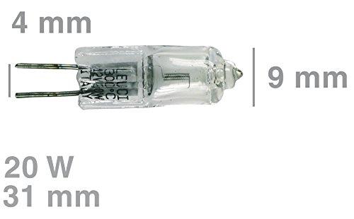 Universal Halogenlampe G4 20W 12V 300°C Backofen Dunstabzugshaube Kühlschrank