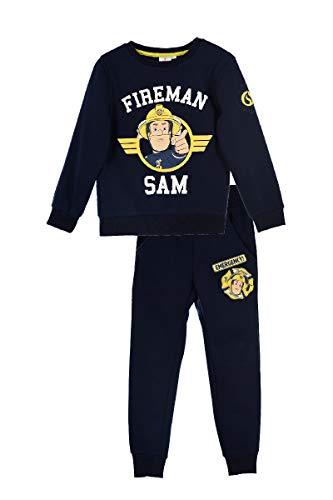 Feuerwehrmann-Sam Jungen Jogginganzug Hose und Pullover Set (Blau, Größe 98)