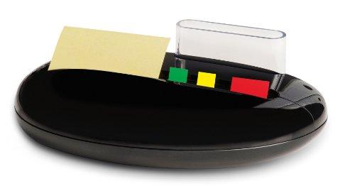 Post-it PBL100 Index und Notes Spender Stone, gefüllt mit Z-Notes und Haftstreifen, schwarz
