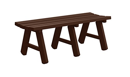 Kirby Built Products Ashland Portable Backless Bench/4' Bench/Brown/Brown