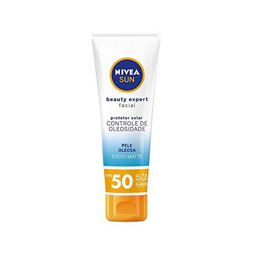 Protetor Solar Nivea Sun Beauty Expert Facial Pele Oleosa Fps 50 50G, Nivea