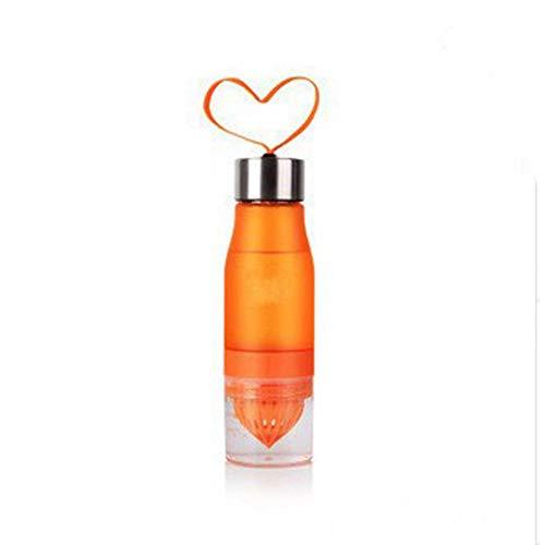 SWXC 650ml Sport Plastik Wasserflasche mit Saftpresse Trinkflaschen Auslaufsicher Flasche Tumbler Outdoor Travel