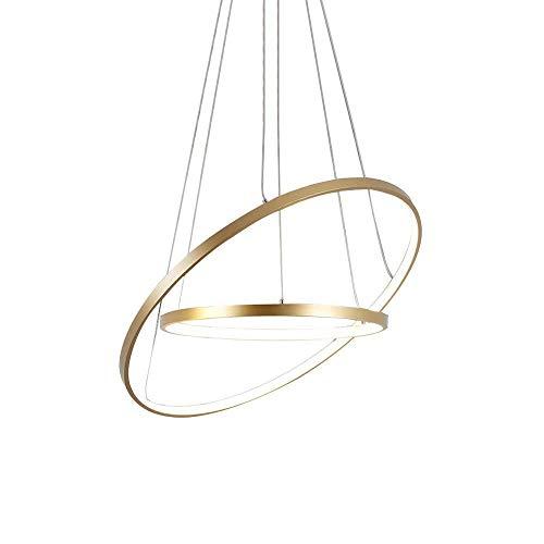 Light up life / Boutique lighting plafondlamp gouden ring hanglamp met afstandsbediening hanglamp moderne ronde metalen acryl hanglamp eettafel woonkamer eetkamer keuken slaapkamer verlichting